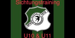 Sichtungstraining der U10 & U11 Jungschwalben